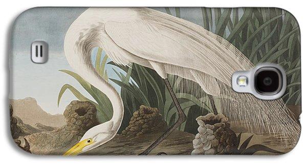 Great Egret Galaxy S4 Case by John James Audubon