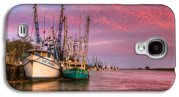Sailboats At The Dock Galaxy S4 Cases - Harbor Sunset Galaxy S4 Case by Debra and Dave Vanderlaan
