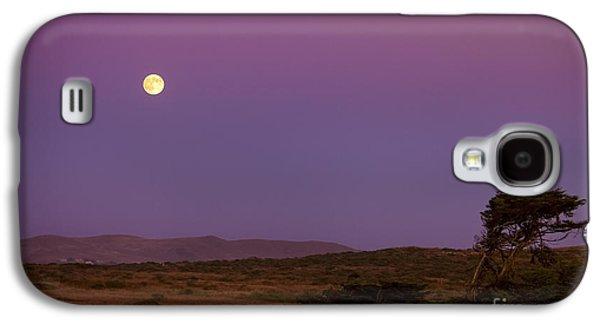 Big Sur California Galaxy S4 Cases - Harvest Moon over Bodega Bay Galaxy S4 Case by Diane Diederich