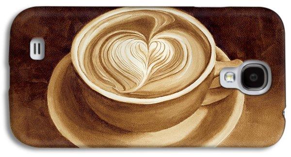 Heart Latte II Galaxy S4 Case by Hailey E Herrera