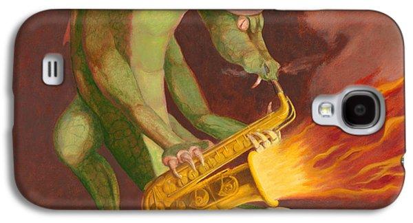 Leonard Filgate Paintings Galaxy S4 Cases - Hot Sax Galaxy S4 Case by Leonard Filgate