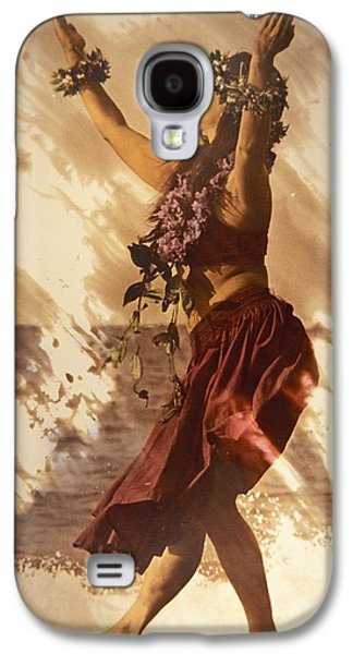 Printscapes - Galaxy S4 Cases - Hula On The Beach Galaxy S4 Case by Himani - Printscapes