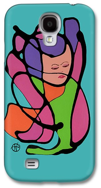 Abstract Digital Paintings Galaxy S4 Cases - Im over it Galaxy S4 Case by Nancy Carlton