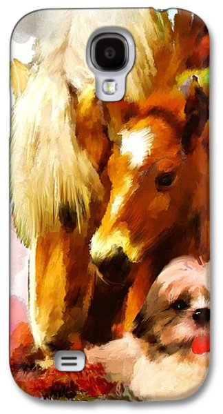 Puppy Digital Art Galaxy S4 Cases - In the moment Galaxy S4 Case by Richard Okun