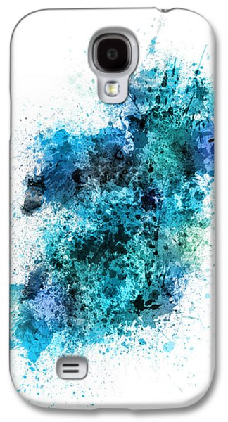 Ireland Galaxy S4 Cases - Ireland Map Paint Splashes Galaxy S4 Case by Michael Tompsett