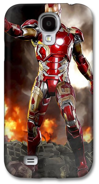 Shield Digital Galaxy S4 Cases - Iron Man - No Battle Damage Galaxy S4 Case by Paul Tagliamonte
