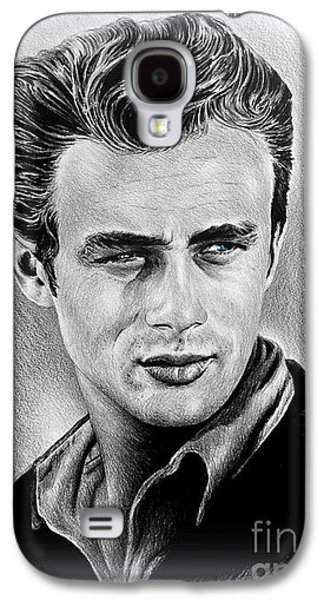 Youthful Drawings Galaxy S4 Cases - James Dean  Galaxy S4 Case by Andrew Read