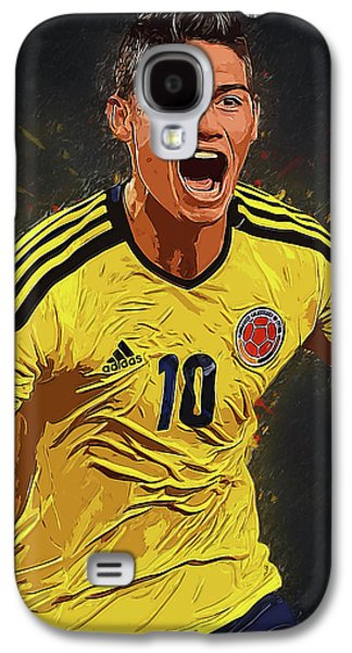 James Rodrigez Galaxy S4 Case by Semih Yurdabak