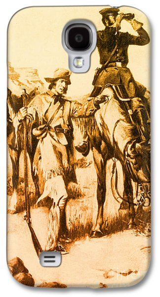 Best Sellers -  - Slavery Galaxy S4 Cases - J.c. Fremont And His Guide, Kit Carson Galaxy S4 Case by Photo Researchers