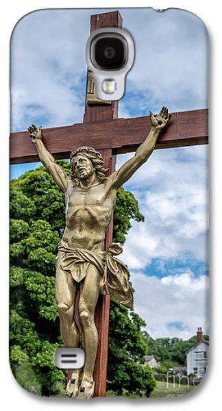 The Wooden Cross Galaxy S4 Cases - Jesus of Nazareth Galaxy S4 Case by Adrian Evans