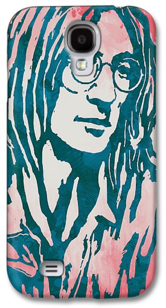 Beatles Galaxy S4 Cases - John Lennon Pop Stylised Art Sketch Poster Galaxy S4 Case by Kim Wang