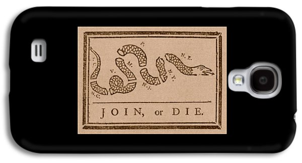 American Flag Mixed Media Galaxy S4 Cases - Join or Die Galaxy S4 Case by War Is Hell Store