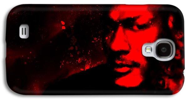 Patrick Ewing Paintings Galaxy S4 Cases - Jordan Six Rings Galaxy S4 Case by Brian Reaves