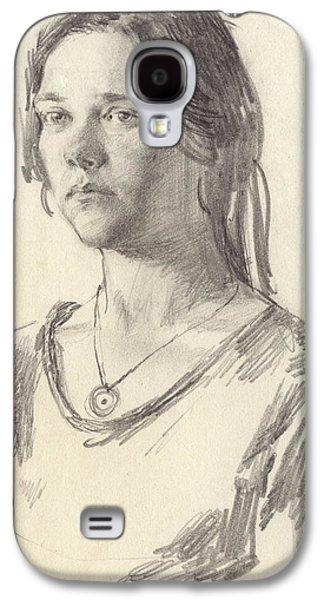 Girl Galaxy S4 Cases - Julia Galaxy S4 Case by Victoria Kharchenko