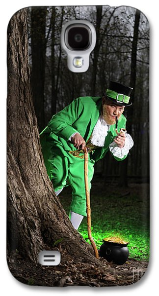 Irish Folklore Galaxy S4 Cases - Leprechaun with Pot of Gold Galaxy S4 Case by Oleksiy Maksymenko