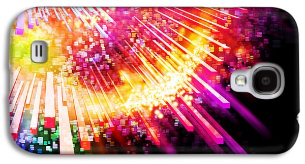 Multicolored Digital Galaxy S4 Cases - Lighting Explosion Galaxy S4 Case by Setsiri Silapasuwanchai