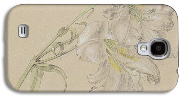 Still Life Pastels Galaxy S4 Cases - Lily Galaxy S4 Case by Albert Williams