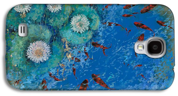 Fish Pond Galaxy S4 Cases - Lo Stagno Galaxy S4 Case by Guido Borelli