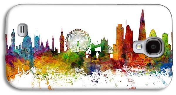 London England Skyline Panoramic Galaxy S4 Case by Michael Tompsett