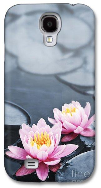Aquatic Galaxy S4 Cases - Lotus blossoms Galaxy S4 Case by Elena Elisseeva