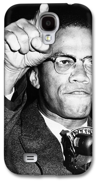 Best Sellers -  - African-american Galaxy S4 Cases - Malcolm X (1925-1965) Galaxy S4 Case by Granger