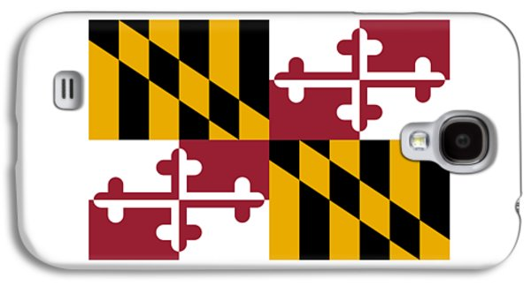 Waving Flag Mixed Media Galaxy S4 Cases - Maryland Flag Galaxy S4 Case by Frederick Holiday