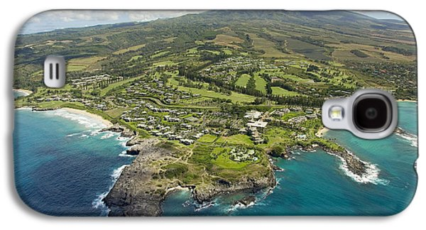 Ocean Art Photos Galaxy S4 Cases - Maui Aerial Of Kapalua Galaxy S4 Case by Ron Dahlquist - Printscapes