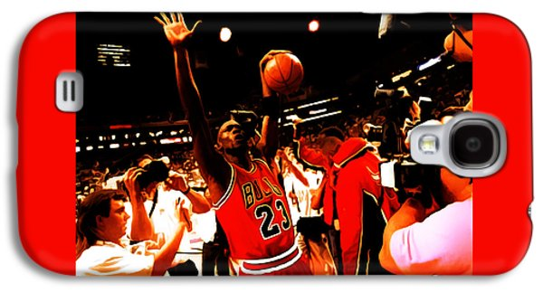 Slam Galaxy S4 Cases - Michael Jordan Sweet Victory Galaxy S4 Case by Brian Reaves