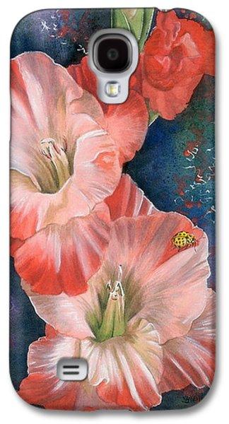 Gladiolas Paintings Galaxy S4 Cases - Midday Galaxy S4 Case by Barbara Keith