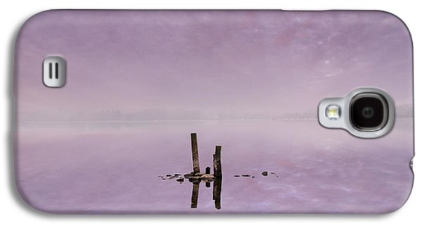 Sunset Abstract Galaxy S4 Cases - Minimalistic Dawn Galaxy S4 Case by Adrian Campfield
