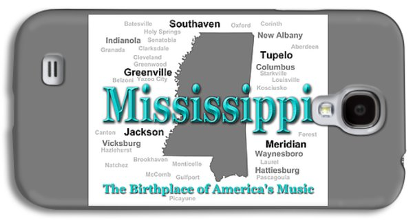 Hattiesburg Galaxy S4 Cases - Mississippi State Pride Map Silhouette  Galaxy S4 Case by Keith Webber Jr