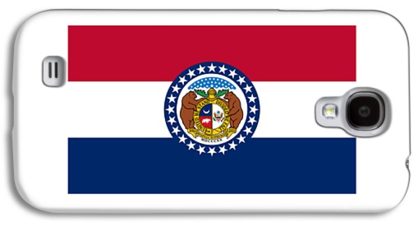 Waving Flag Mixed Media Galaxy S4 Cases - Missouri Flag Galaxy S4 Case by Frederick Holiday
