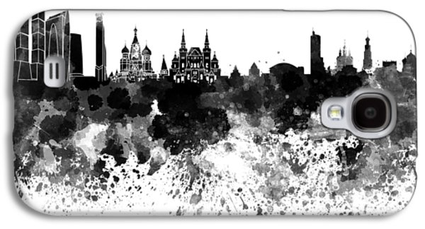 Moscow Skyline White Background Galaxy S4 Case by Pablo Romero