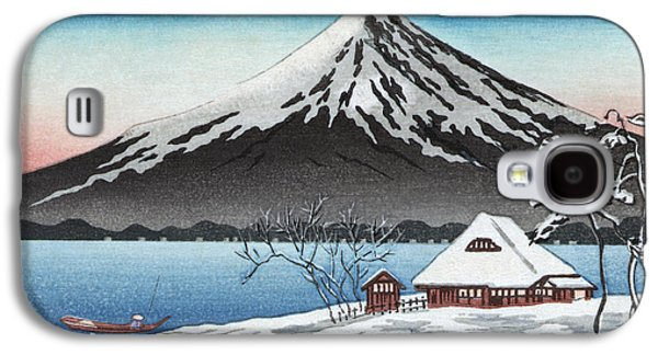20th Drawings Galaxy S4 Cases - Mount Fuji Galaxy S4 Case by Granger