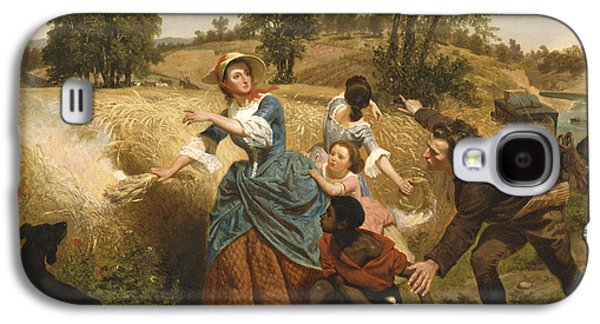 Slaves Galaxy S4 Cases - Mrs Schuyler Burning Her Wheat Fields on the Approach of the British Galaxy S4 Case by Emanuel Gottlieb Leutze