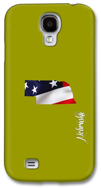 Map Galaxy S4 Cases - Nebraska State Map Collection Galaxy S4 Case by Marvin Blaine