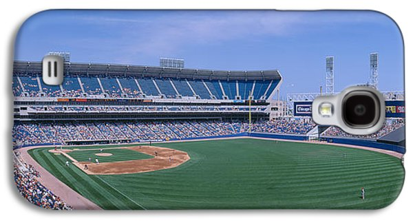 Sports Photographs Galaxy S4 Cases - New Comiskey Park, Chicago, White Sox Galaxy S4 Case by Panoramic Images
