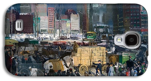 Police Paintings Galaxy S4 Cases - New York Galaxy S4 Case by George Bellows