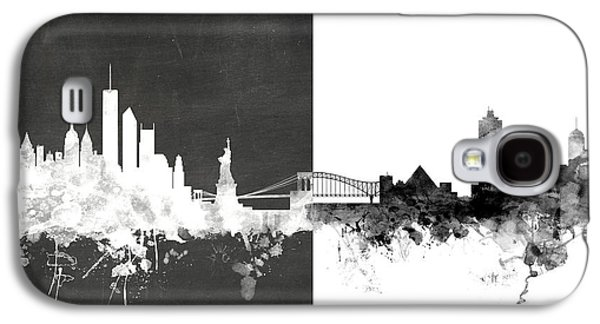 New York Digital Galaxy S4 Cases - New York Memphis Skyline Mashup Galaxy S4 Case by Michael Tompsett