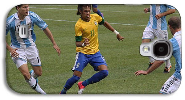Clash Of Worlds Galaxy S4 Cases - Neymar Doing His Thing II Galaxy S4 Case by Lee Dos Santos