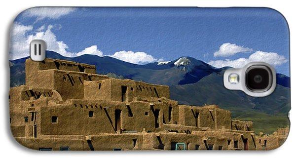 Taos Galaxy S4 Cases - North Pueblo Taos Galaxy S4 Case by Kurt Van Wagner