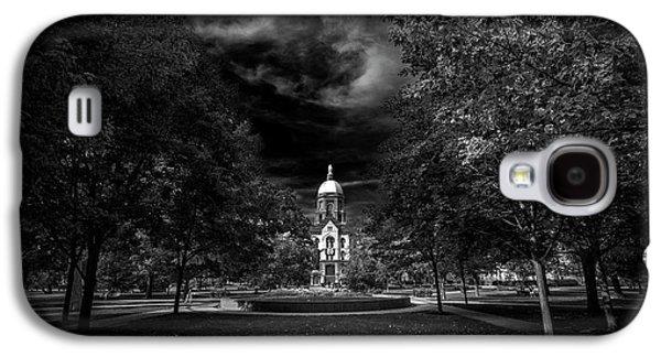 Notre Dame University Black White Galaxy S4 Case by David Haskett