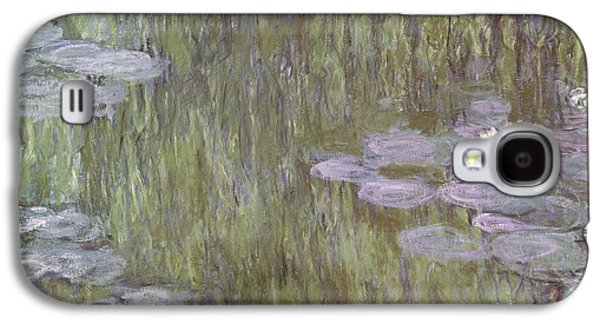 Weeping Galaxy S4 Cases - Nympheas at Giverny Galaxy S4 Case by Claude Monet