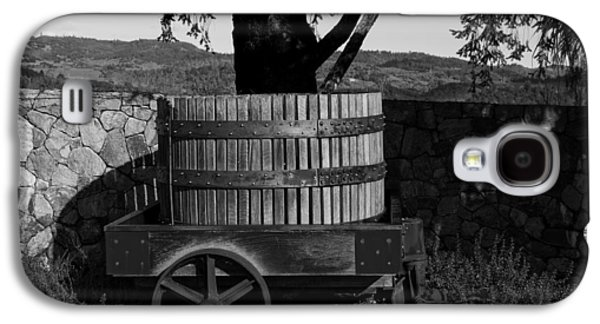 Napa Valley And Vineyards Galaxy S4 Cases - Old Wine Barrel And Wagon - Napa Valley Galaxy S4 Case by Mountain Dreams