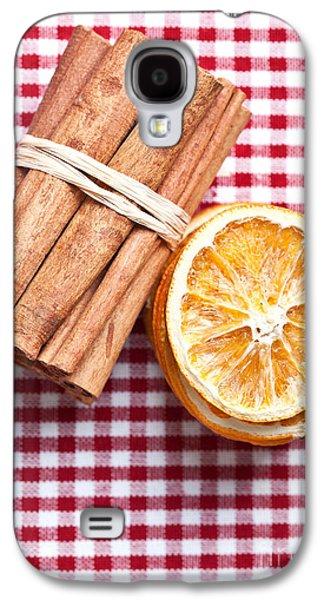 Cloth Galaxy S4 Cases - Orange and Cinnamon Galaxy S4 Case by Nailia Schwarz