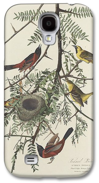 Wild Orchards Galaxy S4 Cases - Orchard Oriole Galaxy S4 Case by John James Audubon