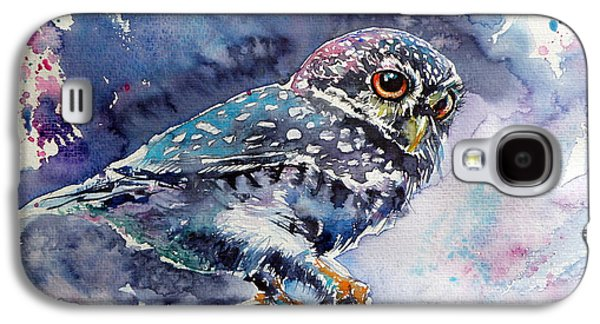 Owl At Night Galaxy S4 Case by Kovacs Anna Brigitta