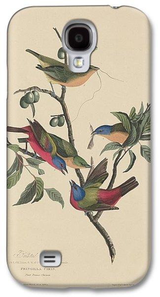 Painted Bunting Galaxy S4 Case by John James Audubon