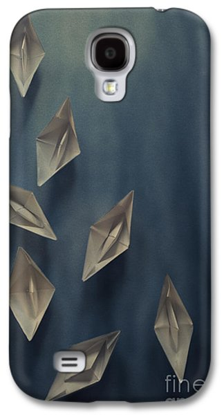 Transportation Pyrography Galaxy S4 Cases - Paper Boats Galaxy S4 Case by Jelena Jovanovic