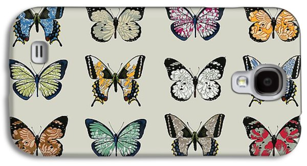 Insects Digital Galaxy S4 Cases - Papillon Galaxy S4 Case by Sarah Hough